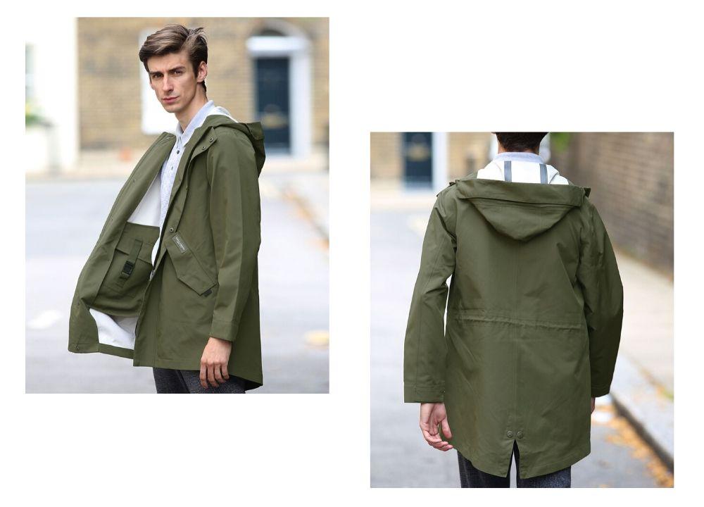 Men's parka raincoat
