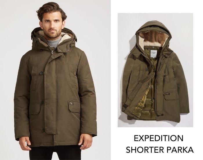 Short men winter parka