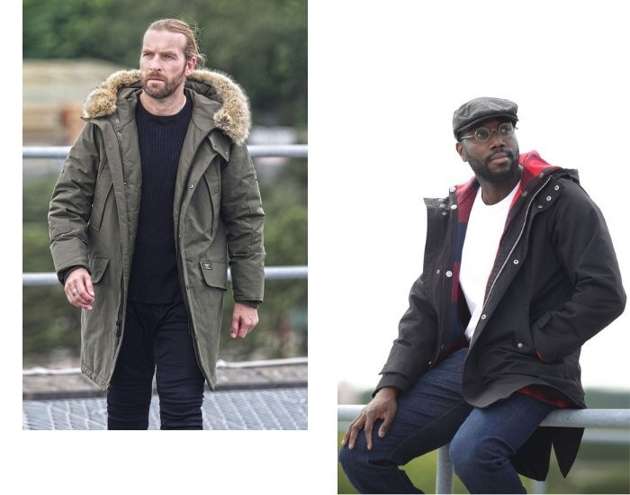 How to wear a men's parka - casual